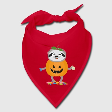 Pumpkin Sloth Halloween Costume Gift - Bandana