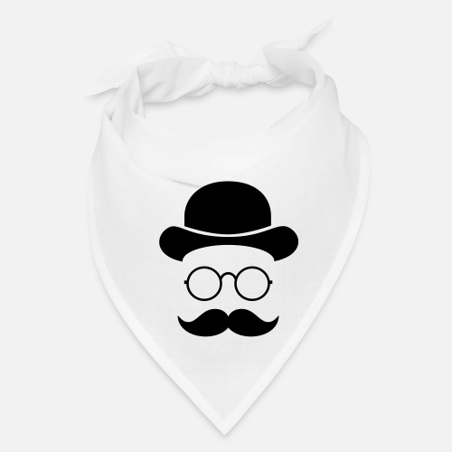 941fd251f90 Funny vintage face with Moustache   Glasses Bandana
