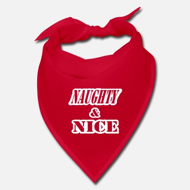 Naughty Naughty And Nice With Cut Outs, 1 Color - Bandana