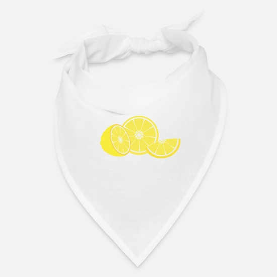 Collection Caps - slice of lemon - Bandana white