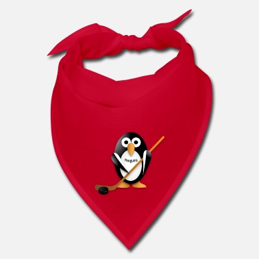 Hockey Penguin with a hockey stick - Bandana