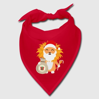 Santa Lion with Present Gift - Bandana