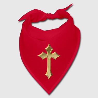 Golden Christian cross - Bandana