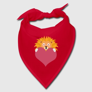 Romantic Lion with heart S5e8y - Bandana