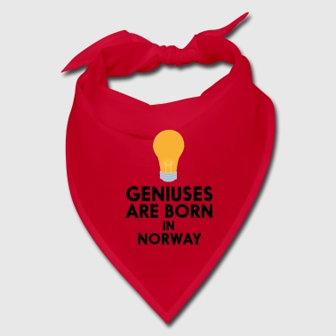Geniuses are born in NORWAY S6uqn - Bandana