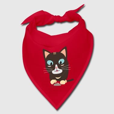 Cat with toy mouse - Bandana