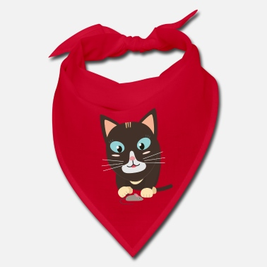Toy Cat with toy mouse - Bandana