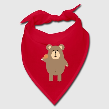Brown Bear with Chickenwing - Bandana
