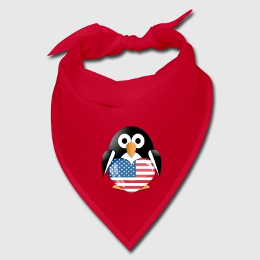 Penguin wit USA flag - Bandana