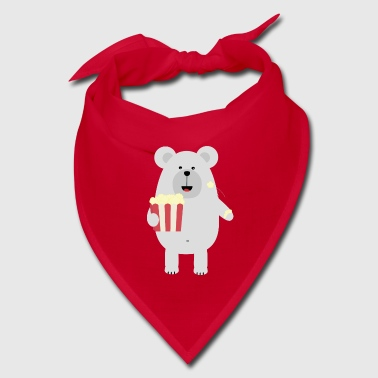Polar Bear with popcorn Sq979 - Bandana