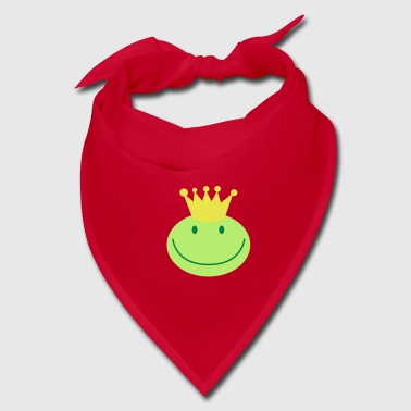 frog prince froggy face with a smile - Bandana