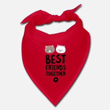 Best Cats Best friends Heart - Bandana