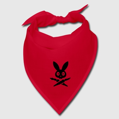 Skully emblem bunny rabbit bunnies hare bone carrot dead skull pirate  - Bandana