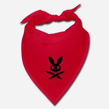Carrot Skully emblem bunny rabbit bunnies hare bone carrot dead skull pirate  - Bandana