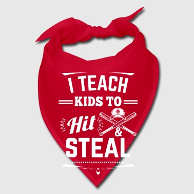 I teach kids to hit & steal - baseball team - Bandana
