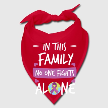In this Family no one fights alone Pink Ribbon - Bandana