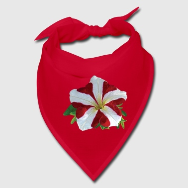 Red and White Petunia - Bandana
