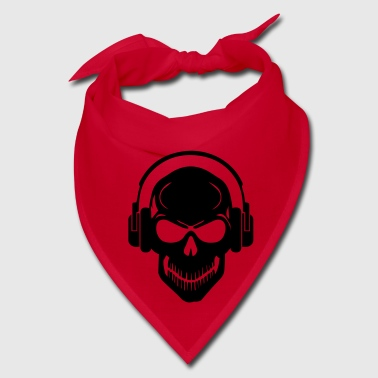 Skull with Headphones - Rave - Electro - Hardstyle - Bandana