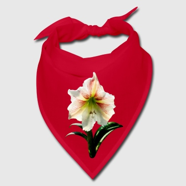 White Lilies With Red Stripes - Bandana