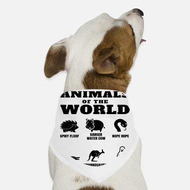 Funny Names Animals Of The World Internet Meme Bandana - white