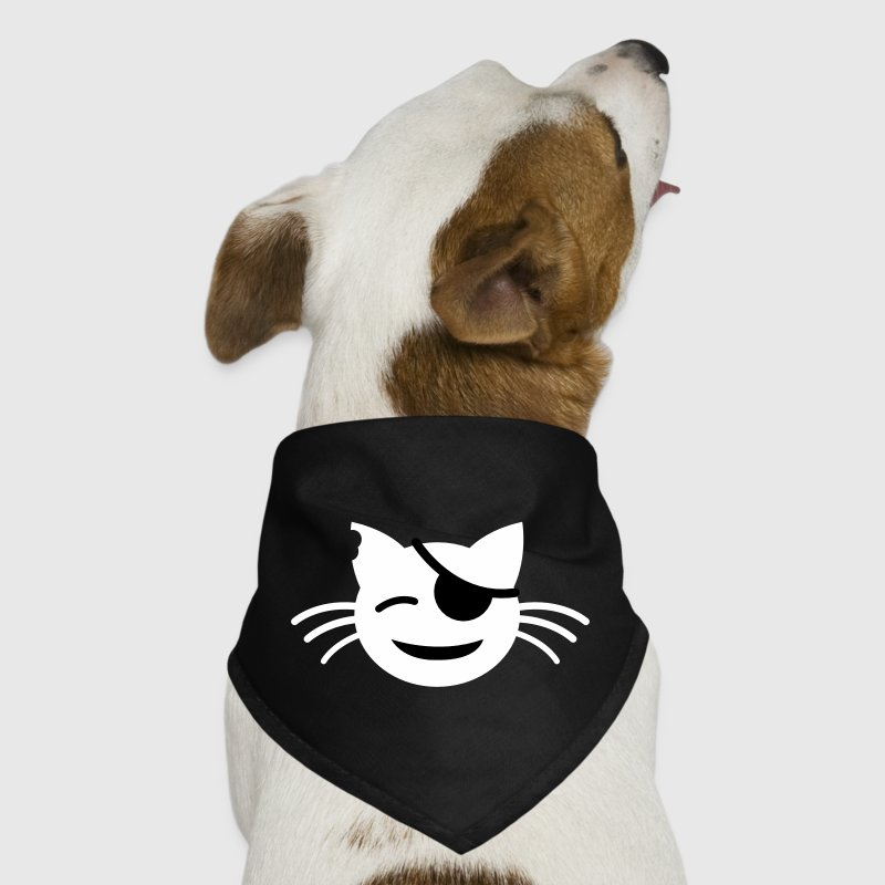 pirate pussy cat with cute little eye patch - Dog Bandana
