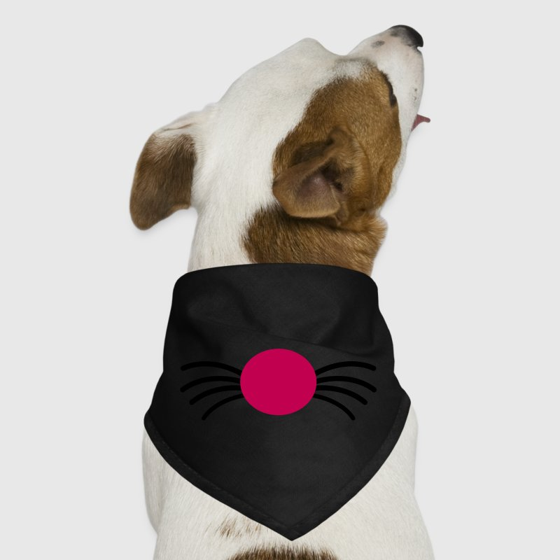 kitty cat nose with whiskers - Dog Bandana
