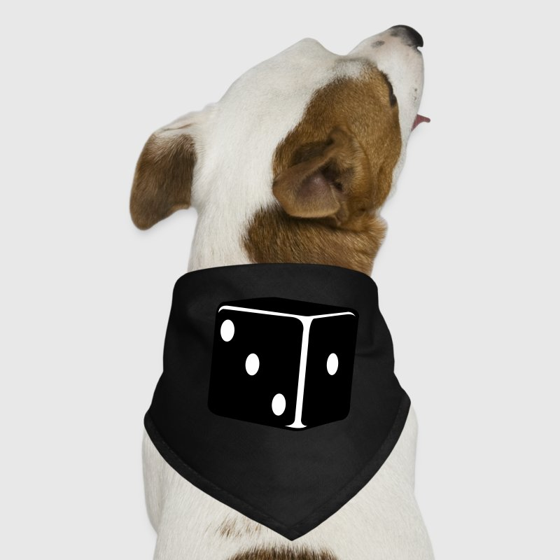 lucky dice single die - Dog Bandana