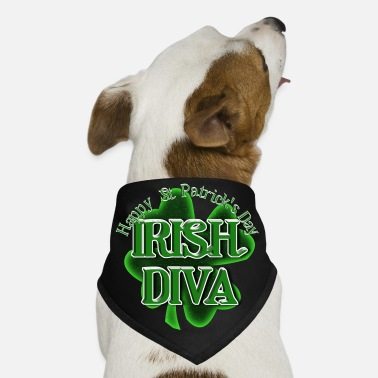 Gravityx9 St Patrick's Day Shamrock - Irish Diva - Dog Bandana