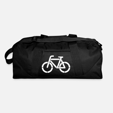 Stencil bicycle stencil - Duffle Bag