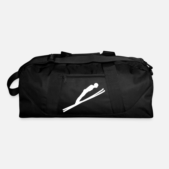 Ski Jumping Bags & Backpacks - jump ski jumping - Duffle Bag black