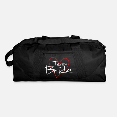 Wedding Shower Team Bride heart wedding shower - Duffle Bag