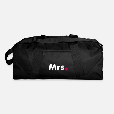 Couples Mrs with heart dot - part of Mr and Mrs set - Duffle Bag