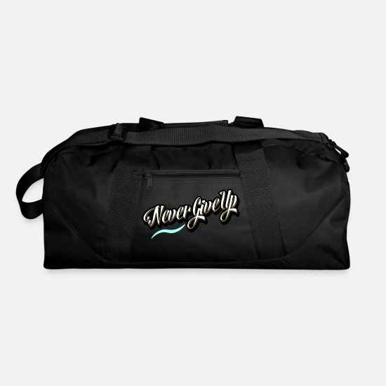 Never Bags & Backpacks - Never Give Up - Duffle Bag black