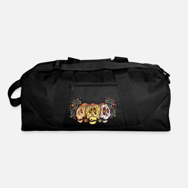 Sugar Skull Cool Sugar Skull - Three Decorated - Gravestone - Duffel Bag