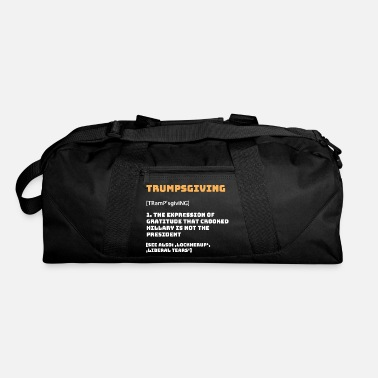 Crook Trumpsgiving funny Thanksgiving turkey dinner - Duffel Bag