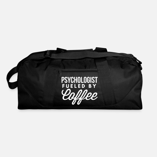 Career Bags & Backpacks - Psychologist fueled by Coffee - Duffle Bag black