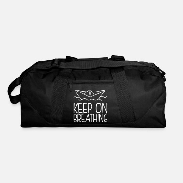 Air Boat Keep On Breathing - Paper Boat Illustration - Duffle Bag