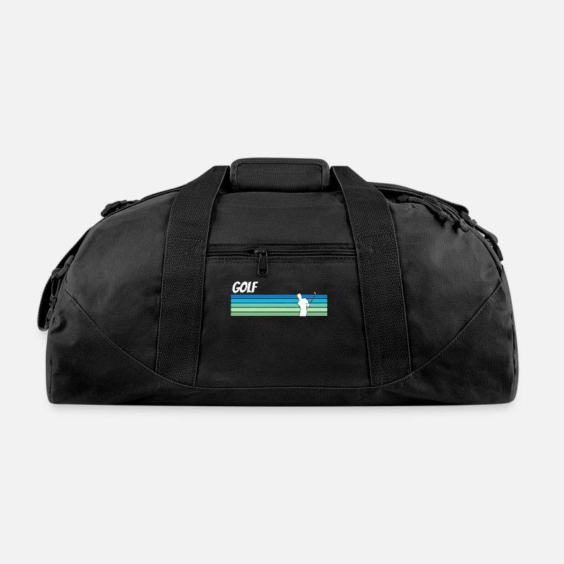 Golf Bags Backpacks Retro Duffle Bag Black