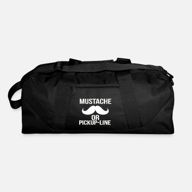 Pickup Line mustache or pickup line - Duffle Bag