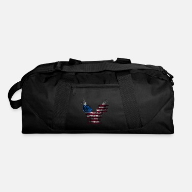 American Flag In Distress Distressed Eagle American Flag - Duffle Bag