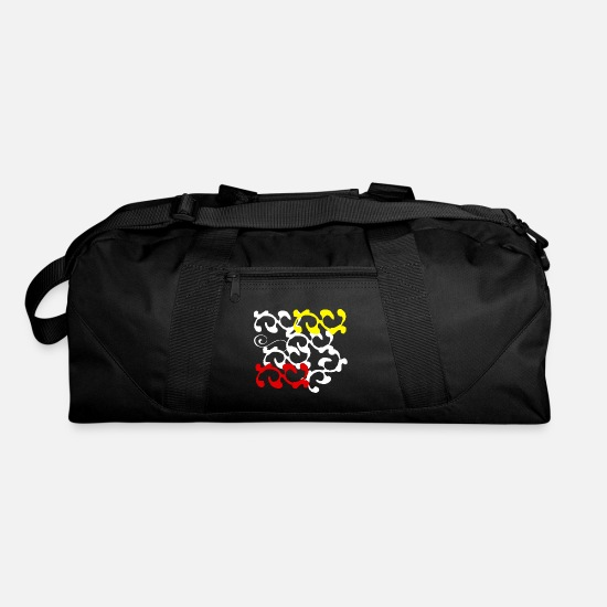 Gift Idea Bags & Backpacks - forms art - Duffle Bag black