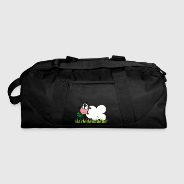 Meadow Sheep with black ears on meadow - Duffel Bag
