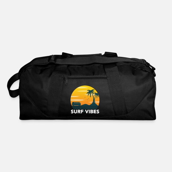Surfing Bags & Backpacks - Surf vibes Surfing Surfboard Hawaii Gift Wave Sea - Duffle Bag black