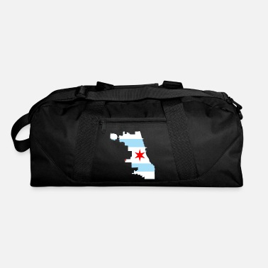 Nort America Flag map of Chicago - Duffle Bag