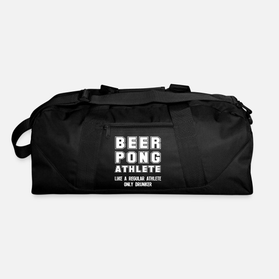 Party Bags & Backpacks - Funny Beer Pong Player Beer-Pong College Party - Duffle Bag black