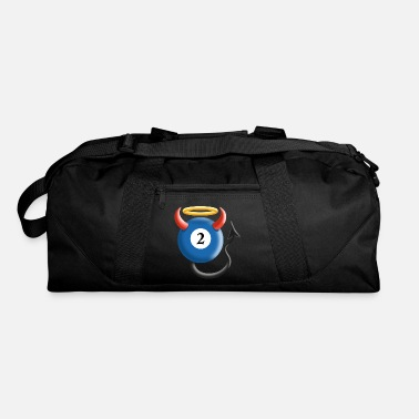 8ball funny sassy pool billiards shirt 8ball devil angel - Duffel Bag