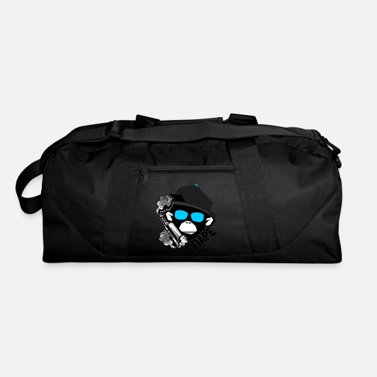 Vape Ape Life Monkey smoking Vaporizer Cigarette Duffel Bag - black