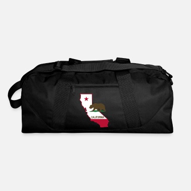 State CALIFORNIA STATE WITH STATE BEAR - Duffle Bag