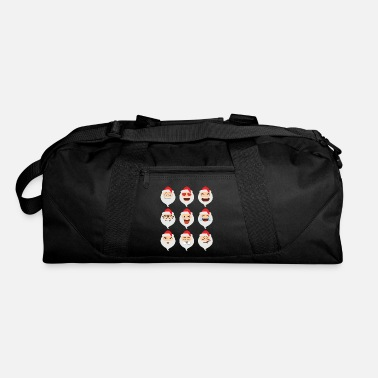 Funny Santa Claus Asian Emojis Christmas Funny TShirt - Duffle Bag