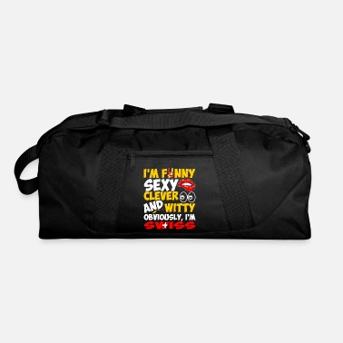 Witty Im Funny Sexy Clever And Witty Im Swiss - Duffel Bag